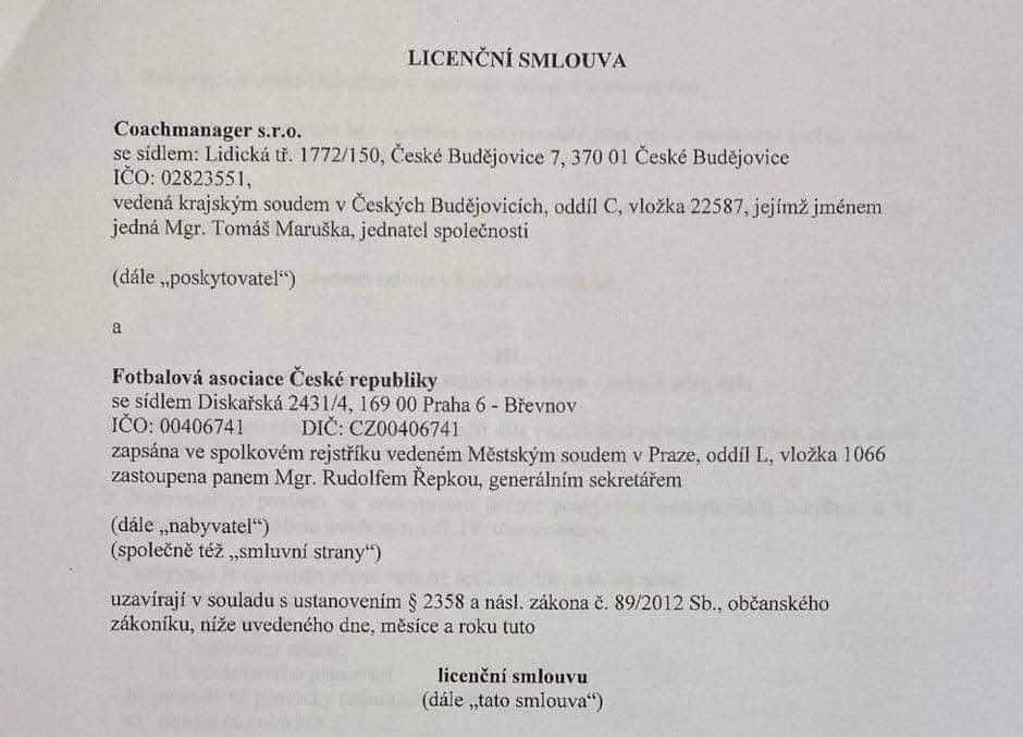 Z licenční smlouvy